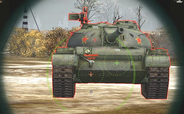 which world of tanks mod shows armor penetration
