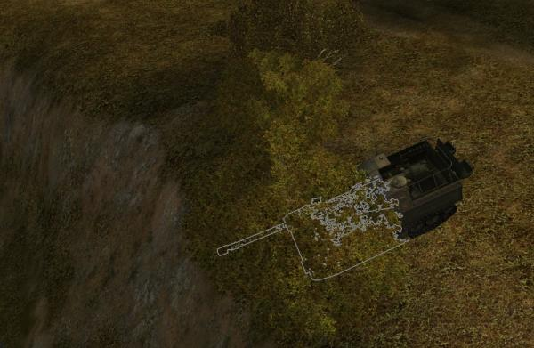 Object 261 hiding in bush